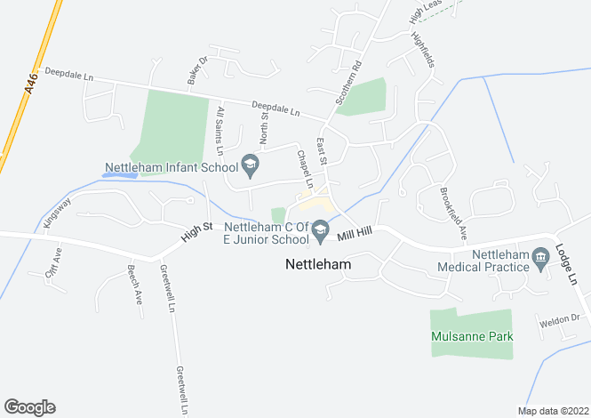 Map for Church Street, Nettleham, Lincoln, Lincolnshire, LN2