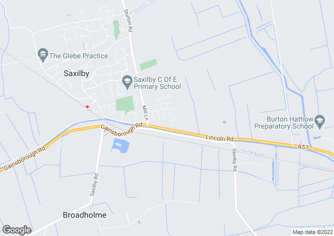 Map for Spencer Close, Saxilby