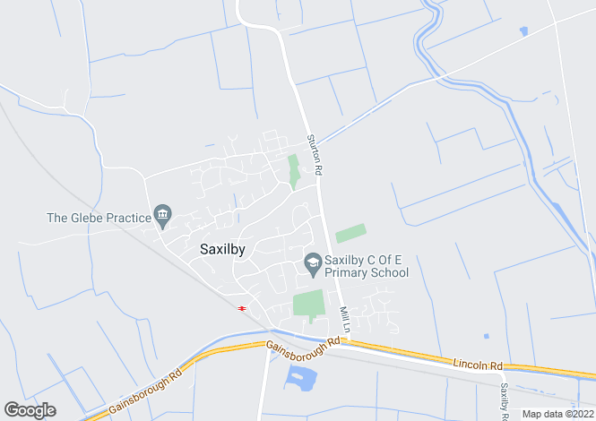 Map for Meadow Rise, Saxilby, LINCOLN