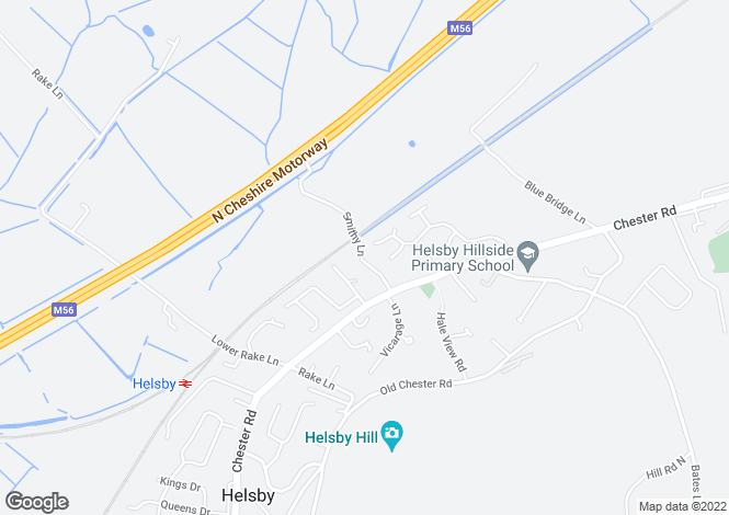 Map for Smithy Lane, Helsby, Frodsham, Cheshire, WA6