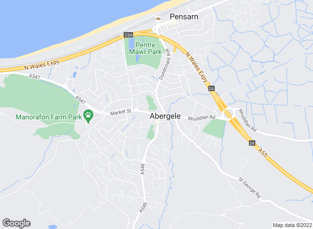 Map for Beresford Adams, Abergele
