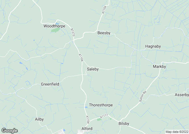 Map for Saleby, Alford, Lincolnshire