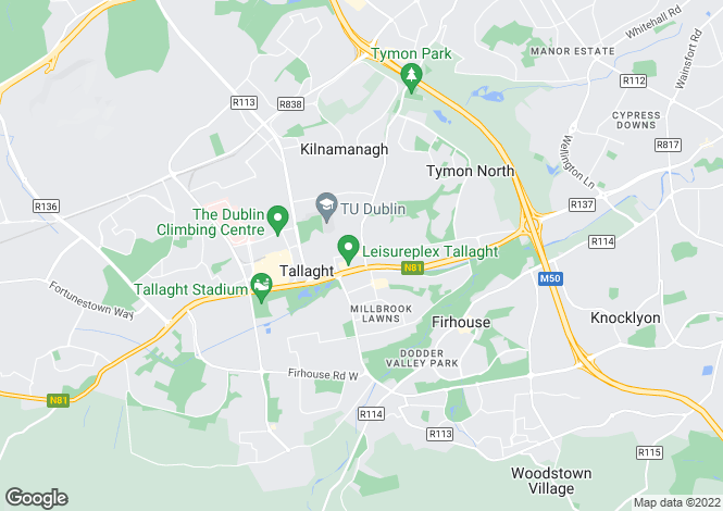Map for Dublin, Tallaght