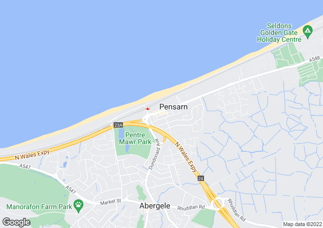 Map for Marine Road, Pensarn