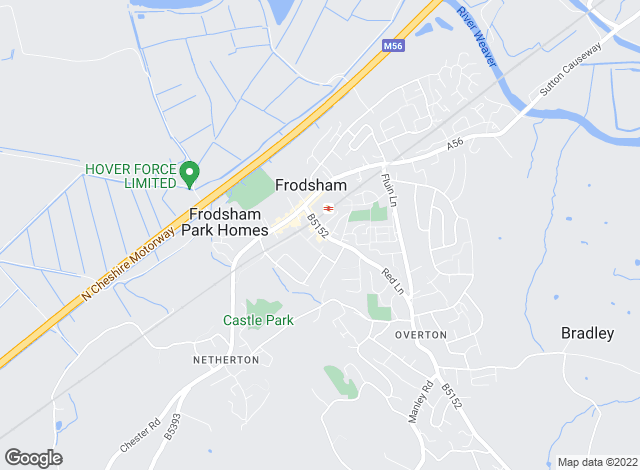 Map for Entwistle Green, Frodsham