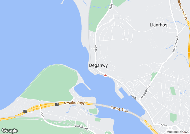 Map for Belgravia Court, Deganwy
