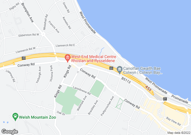 Map for Princes Drive,
