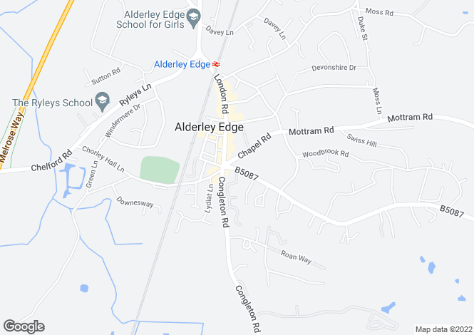 Map for Macclesfield Road,