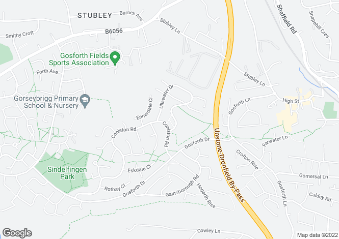 Map for 15, Sheards Drive, Dronfield Woodhouse, Dronfield Woodhouse