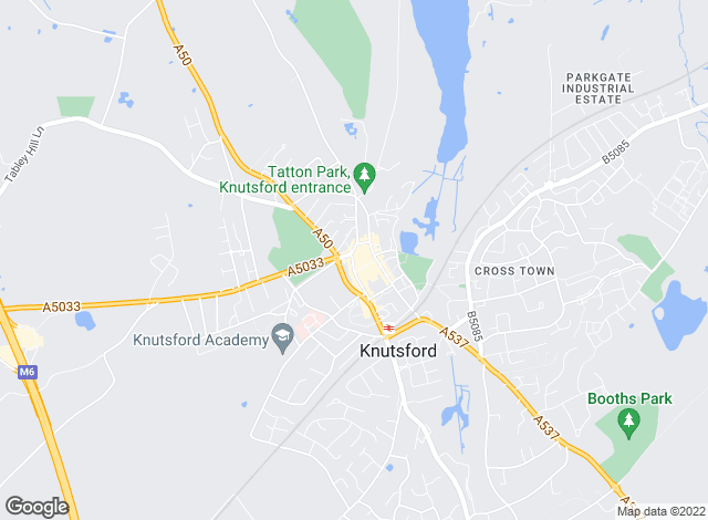 Map for Meller Braggins, Knutsford