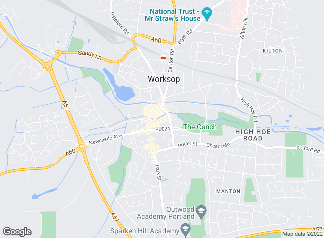Map for Martin & Co, Worksop - Lettings