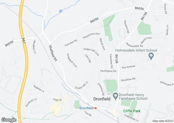 Map for Aldersyde,21, Cecil Road, Dronfield, Dronfield, Derbyshire, S18