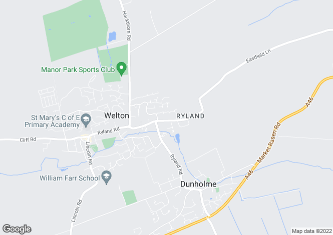 Map for Eastfield Lane, Welton, Lincoln, Lincolnshire, LN2