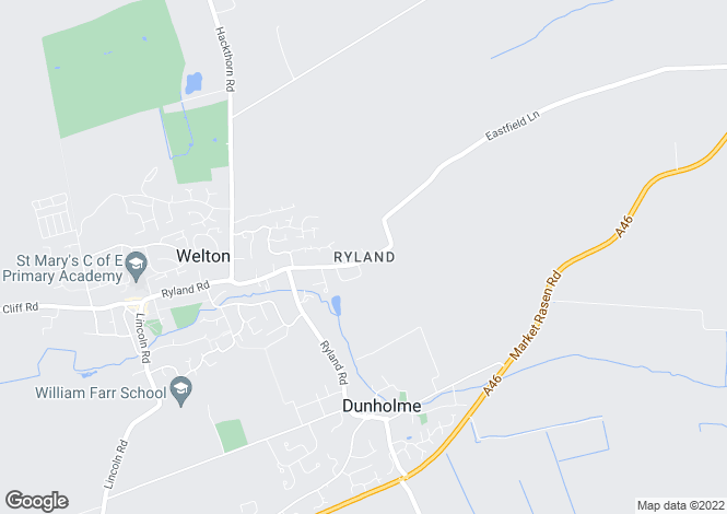 Map for Eastfield Lane, Welton, LN2