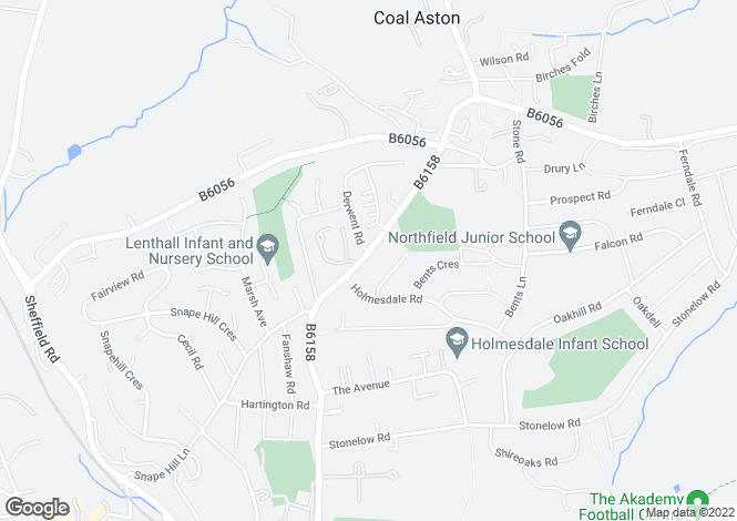 Map for 100 Green Lane, Dronfield, Derbyshire, S18 2FH