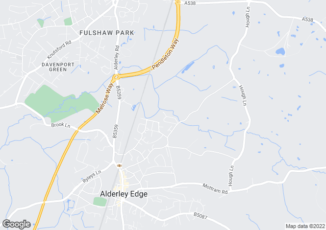 Map for Fairbourne Avenue, Alderley Edge