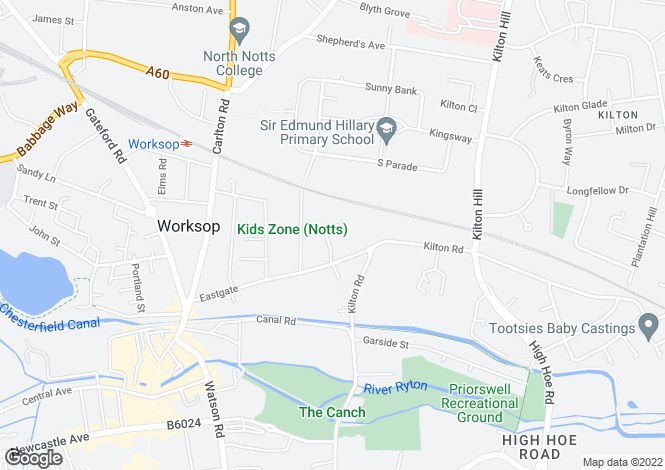 Map for Unit 8, Vulcan Place, Eastgate, Worksop, Nottinghamshire, S80 1RN