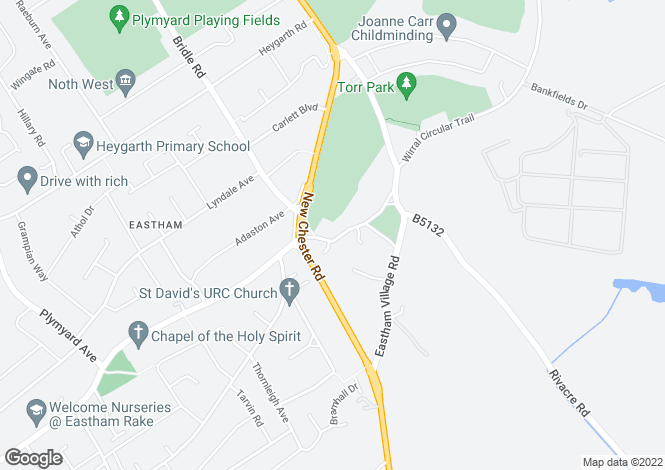 Map for Stanley Avenue  Eastham
