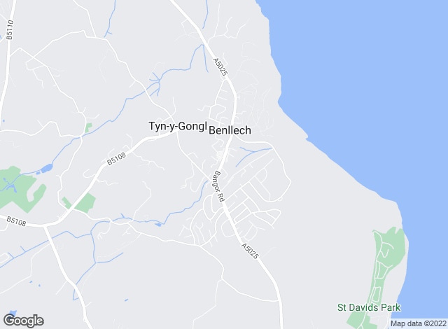 Map for Egerton Estates, Benllech