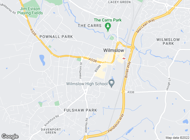 Map for Gascoigne Halman, Wilmslow