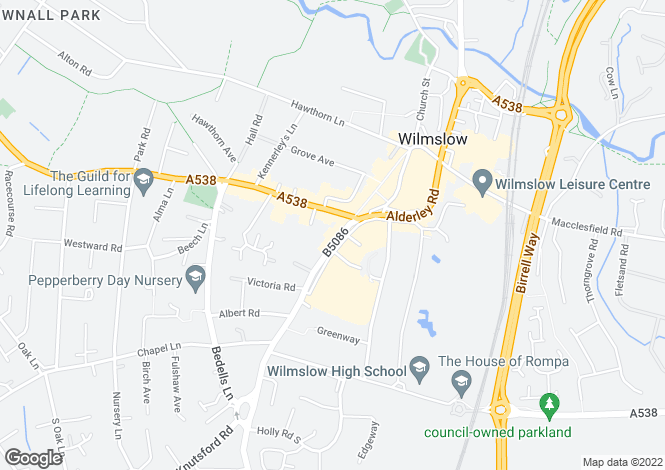 Map for Alderley Road,