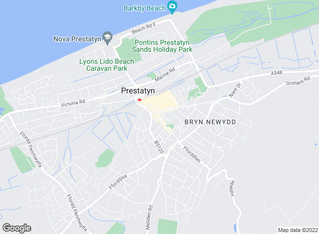 Map for Beresford Adams, Prestatyn