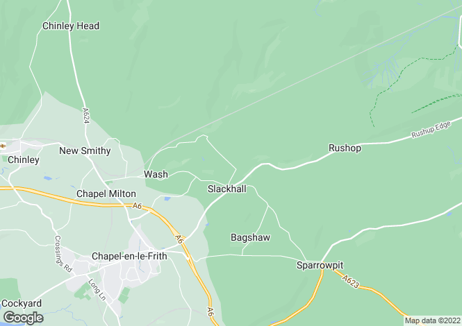 Map for Ford Hall, Chapel-En-Le-Frith, High Peak