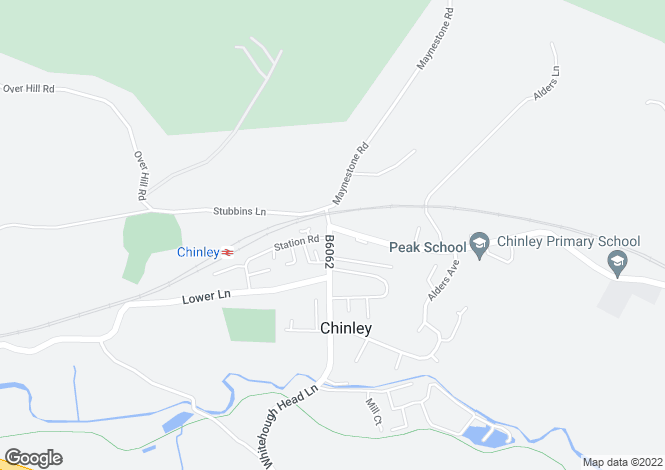 Map for Green Lane, Chinley, HIGH PEAK, Derbyshire