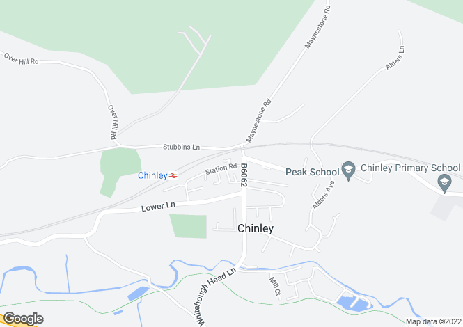 Map for The Sidings, Chinley, High Peak, Derbyshire, SK23 6DE