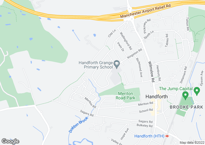 Map for Coniston Drive, Handforth, Wilmslow