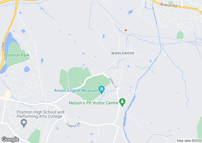 Map for Middlewood Road, Poynton