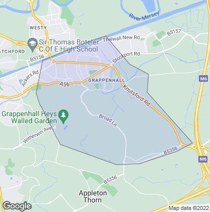 Map of property in Grappenhall