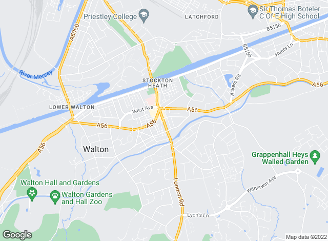 Map for Meller Braggins, Stockton Heath