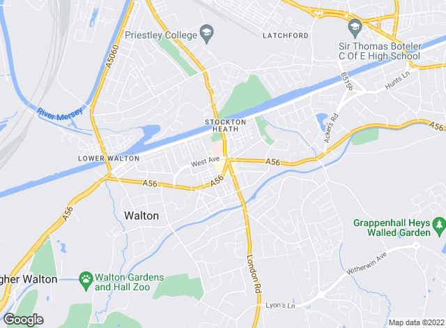 Map for Gascoigne Halman, Stockton Heath