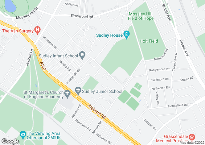 Map for North Sudley Road, Liverpool, L17