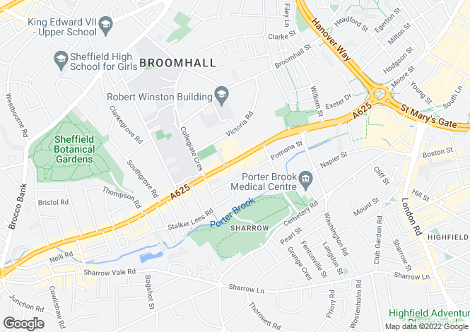Map for Ecclesall Road,