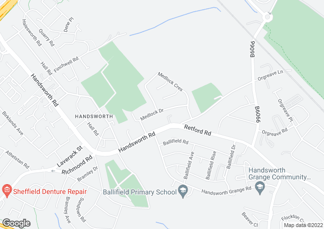 Map for Medlock Drive, Handsworth