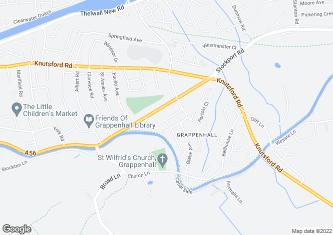 Map for Shadewood Crescent, Grappenhall, Warrington