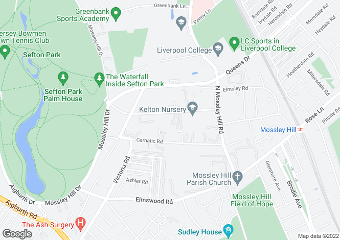 Map for Grosvenor Court North Mossely Hill