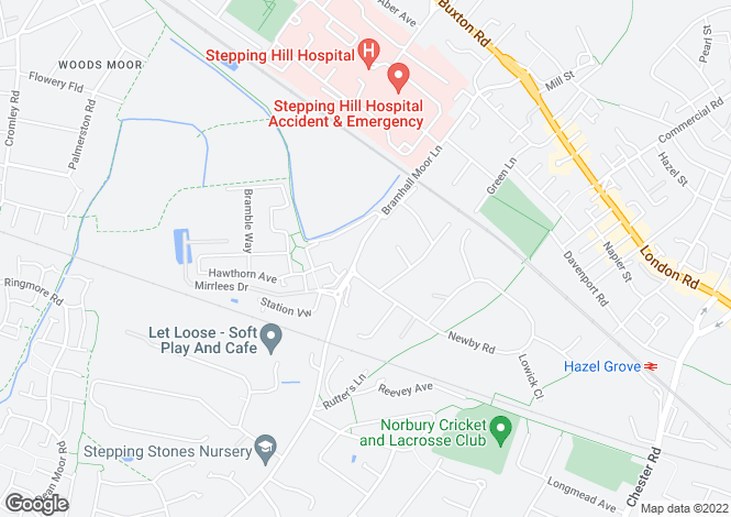 Map for Bramhall Moor Lane,