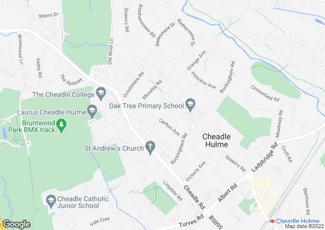 Map for Kings Road, Cheadle Hulme, Cheadle, Greater Manchester
