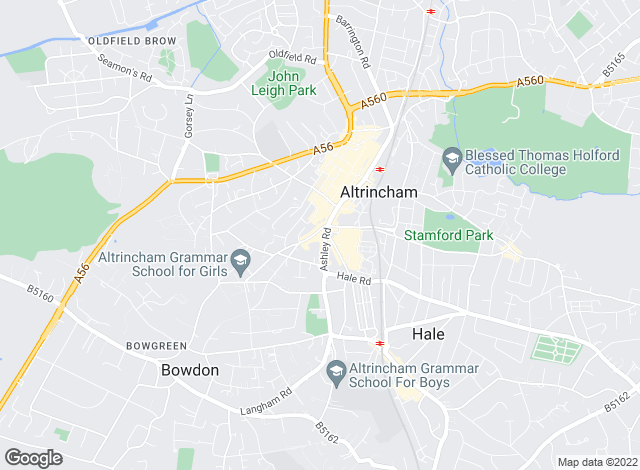 Map for Bridgfords, Altrincham