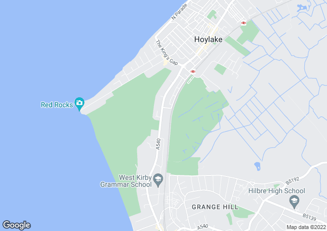 Map for Meols Drive, Hoylake, Wirral