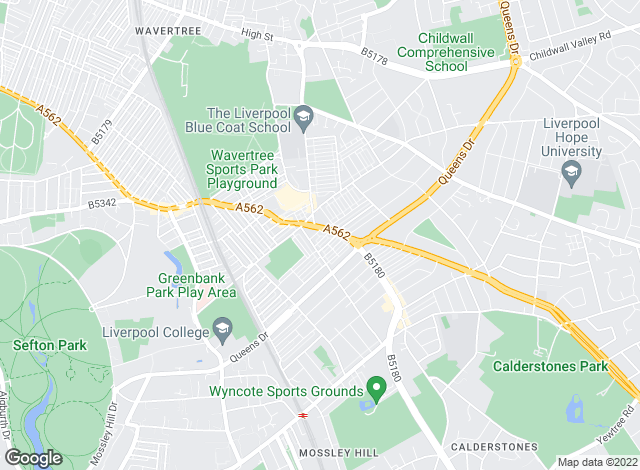 Map for Entwistle Green, Allerton