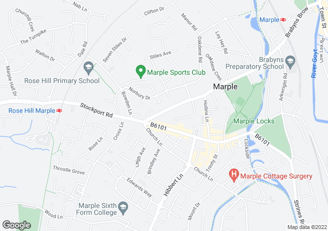 Map for Station Road, Marple, Stockport