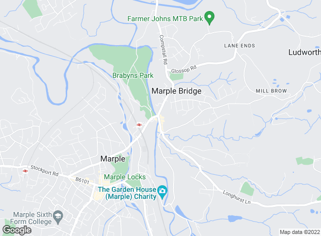 Map for Gascoigne Halman, Marple Bridge