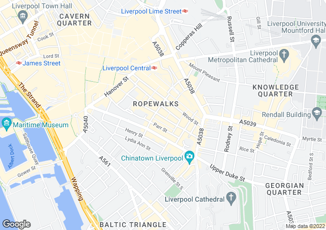 Map for 57-59, Seel Street, Liverpool, L1 4AZ