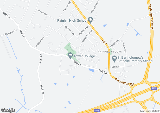 Map for Meade Close, Rainhill, Prescot L35