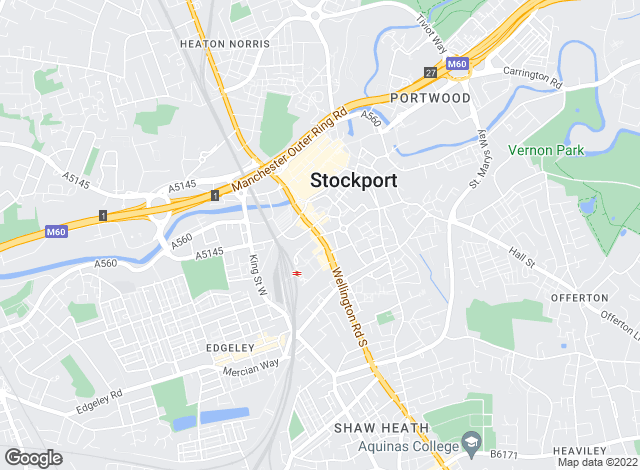Map for Bridgfords, Stockport