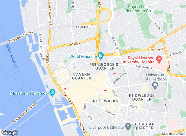 Map for City Residential, Liverpool Lettings